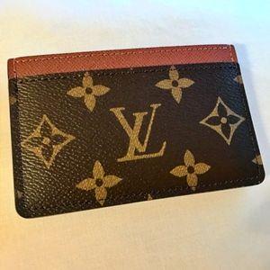 LOUIS VUITTON Monogram Card Holder Armagnac